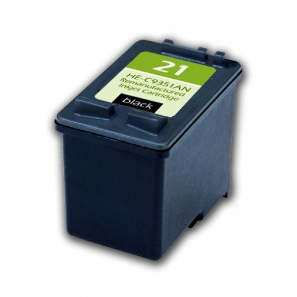 HP21 Black Remanufactured Printer Ink Cartridge