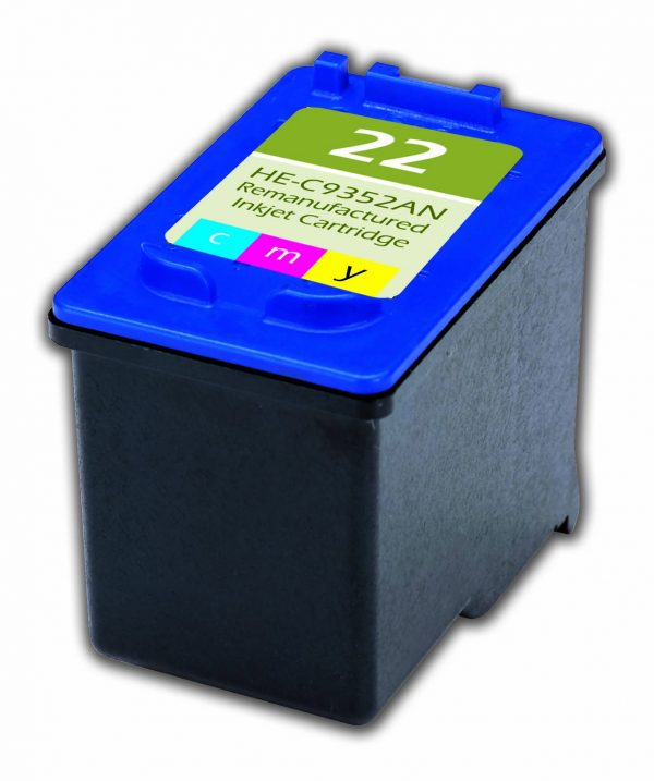 HP22 Color Remanufactured Printer Ink Cartridge