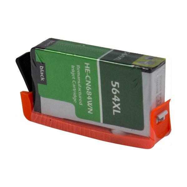 HP564 XL High Yield Black Remanufactured Printer Ink Cartridge