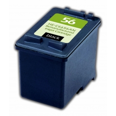 HP56 Black Remanufactured Printer Ink Cartridge