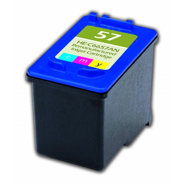 HP57 Color Remanufactured Printer Ink Cartridge
