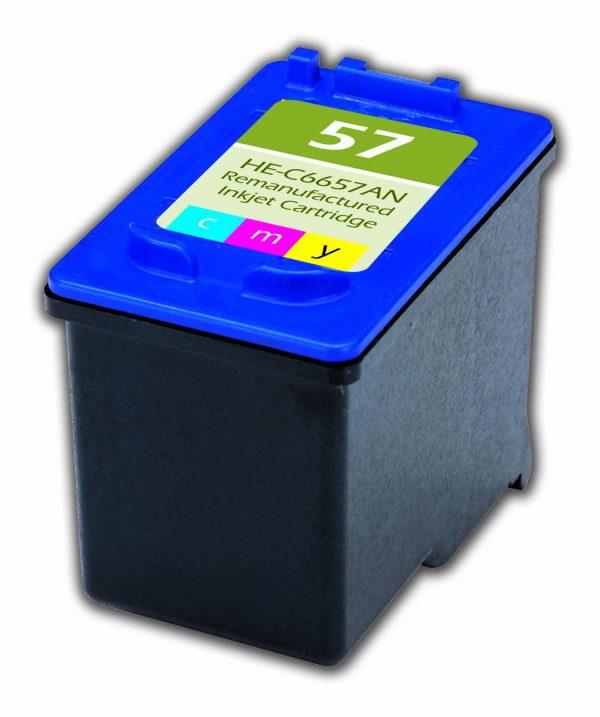 HP57 Color Remanufactured Printer Ink Cartridge