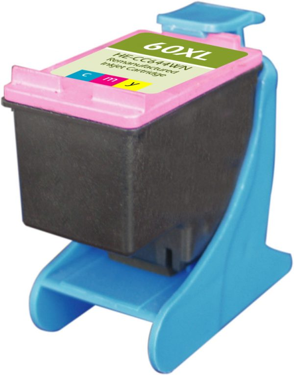 HP60 XL High Yield Color Remanufactured Printer Ink Cartridge