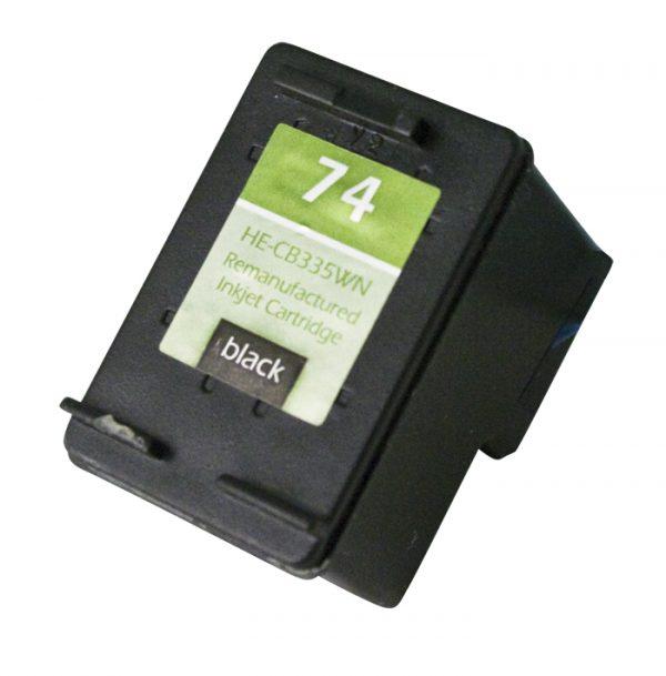 HP74 Black Remanufactured Printer Ink Cartridge