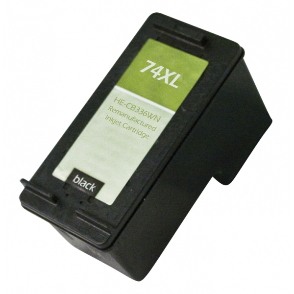 HP74 XL High Yield Black Remanufactured Printer Ink Cartridge