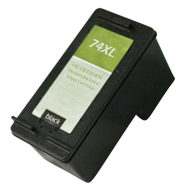 HP74 XL High Yield Black Remanufactured Printer Ink Cartridge