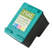 HP75 XL High Yield Color Remanufactured Printer Ink Cartridge