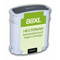 HP88 XL High Yield Black Remanufactured Printer Ink Cartridge