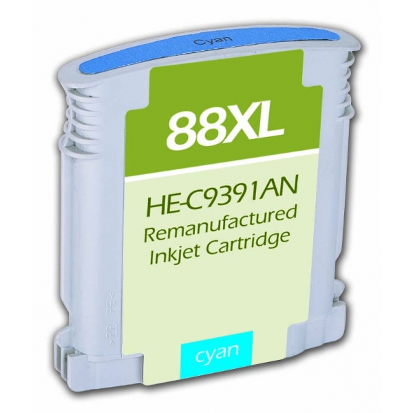 HP88 XL High Yield Cyan Remanufactured Printer Ink Cartridge