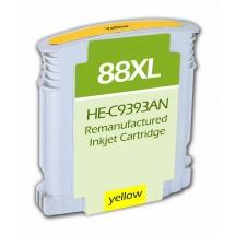 HP88 XL High Yield Yellow Remanufactured Printer Ink Cartridge