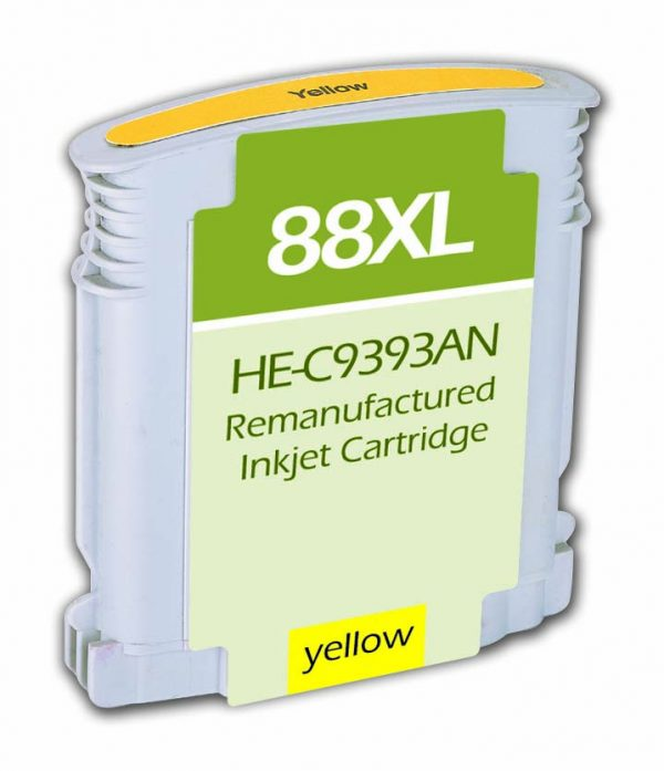 HP88 XL High Yield Yellow Remanufactured Printer Ink Cartridge