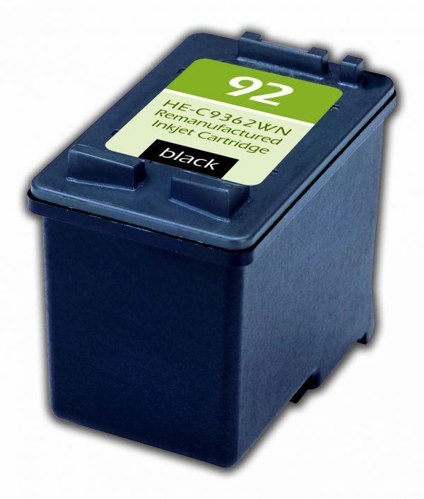 HP92 Black Remanufactured Printer Ink Cartridge