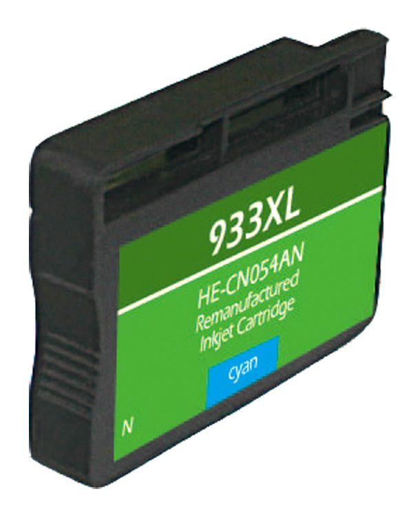 HP933 XL High Yield Cyan Remanufactured Printer Ink Cartridge
