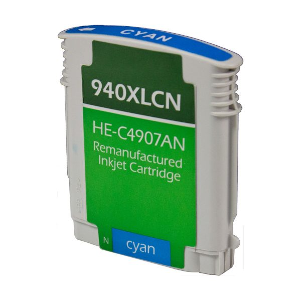 HP940 XL High Yield Cyan Remanufactured Printer Ink Cartridge
