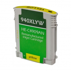 HP940 XL High Yield Yellow Remanufactured Printer Ink Cartridge