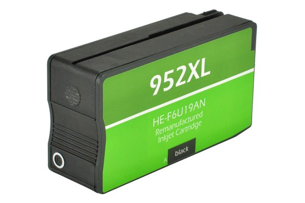 HP952 XL High Yield Black Remanufactured Printer Ink Cartridge