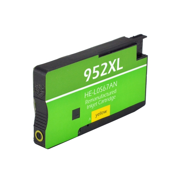 HP952 XL High Yield Yellow Remanufactured Printer Ink Cartridge