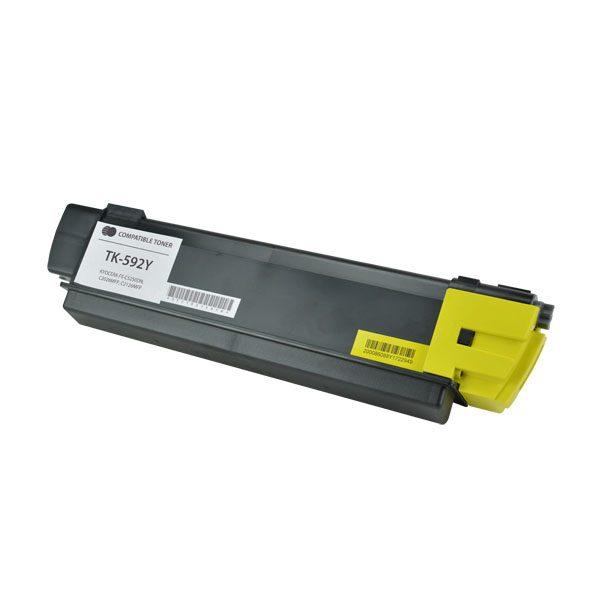 Kyocera Mita TK-592Y Yellow Compatible Copier Toner Cartridge