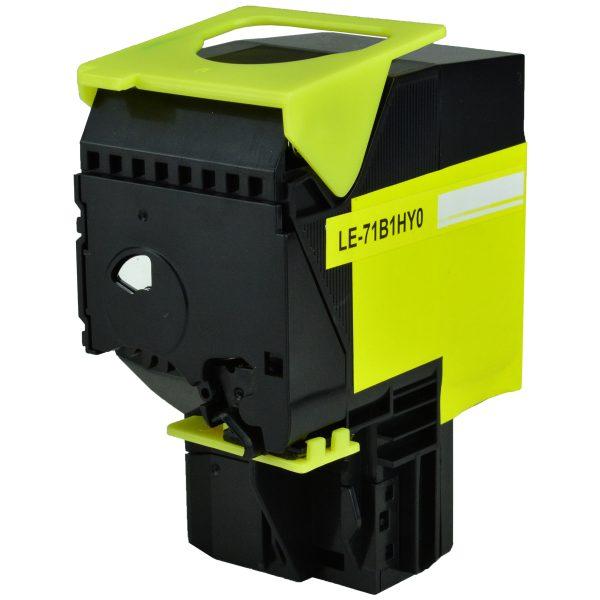 Lexmark 71B1HY0 High Yield Yellow Compatible Toner Cartridge
