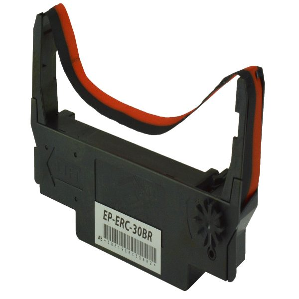 Epson 12 Pack ERC-30BR Black & Red Compatible POS Ribbon Cartridge