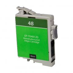 Epson T48 Black Remanufactured Printer Ink Cartridge
