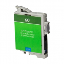 Epson T60 Cyan Remanufactured Printer Ink Cartridge