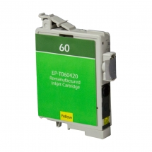 Epson T60 Yellow Remanufactured Printer Ink Cartridge
