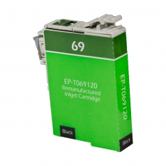 Epson T69 Black Remanufactured Printer Ink Cartridge