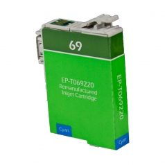 Epson T69 Cyan Remanufactured Printer Ink Cartridge