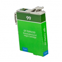 Epson T99 Cyan Remanufactured Printer Ink Cartridge