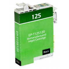 Epson T125 Black Remanufactured Printer Ink Cartridge