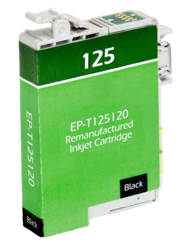 Epson T125 Black Remanufactured Printer Ink Cartridge