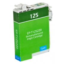 Epson T125 Cyan Remanufactured Printer Ink Cartridge