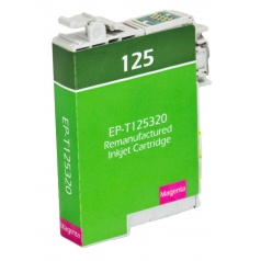 Epson T125 Magenta Remanufactured Printer Ink Cartridge