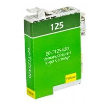 Epson T125 Yellow Remanufactured Printer Ink Cartridge