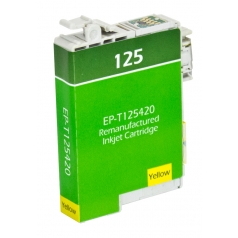 Epson T125 Yellow Remanufactured Printer Ink Cartridge