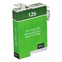 Epson T126 Black Remanufactured Printer Ink Cartridge