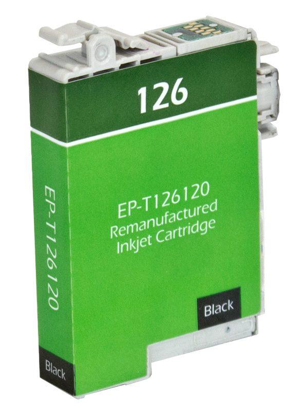 Epson T126 Black Remanufactured Printer Ink Cartridge