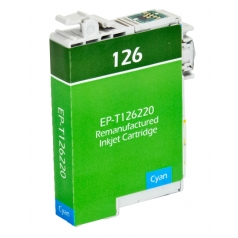 Epson T126 Cyan Remanufactured Printer Ink Cartridge