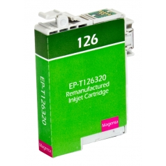 Epson T126 Magenta Remanufactured Printer Ink Cartridge