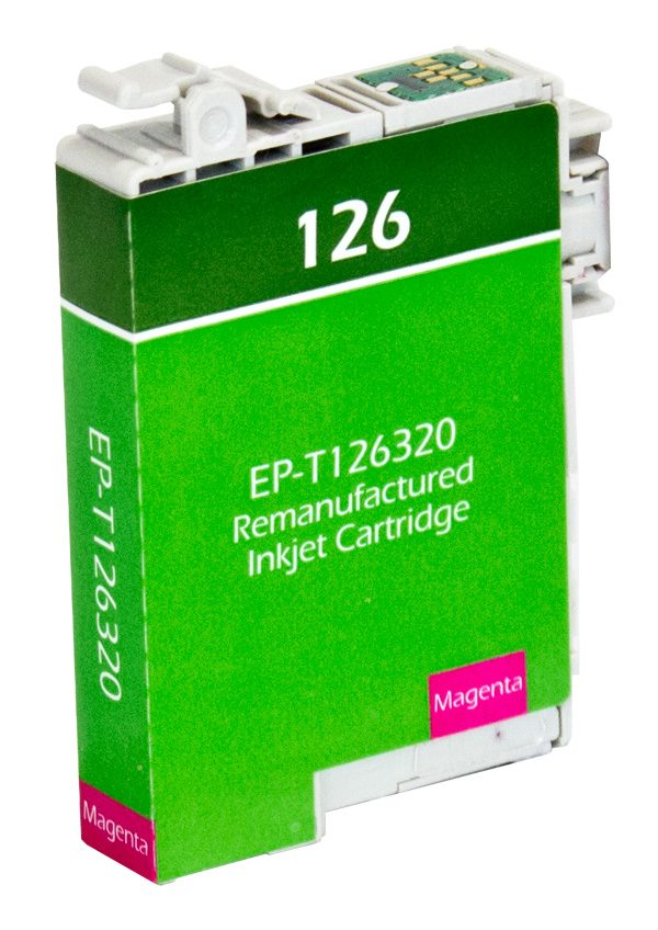 Epson T126 Magenta Remanufactured Printer Ink Cartridge