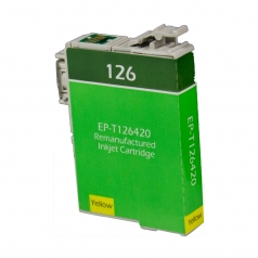 Epson T126 Yellow Remanufactured Printer Ink Cartridge