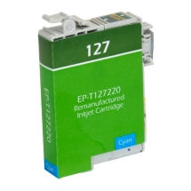 Epson T127 High Yield Cyan Remanufactured Printer Ink Cartridge