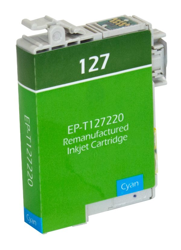 Epson T127 High Yield Cyan Remanufactured Printer Ink Cartridge