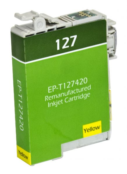Epson T127 High Yield Yellow Remanufactured Printer Ink Cartridge