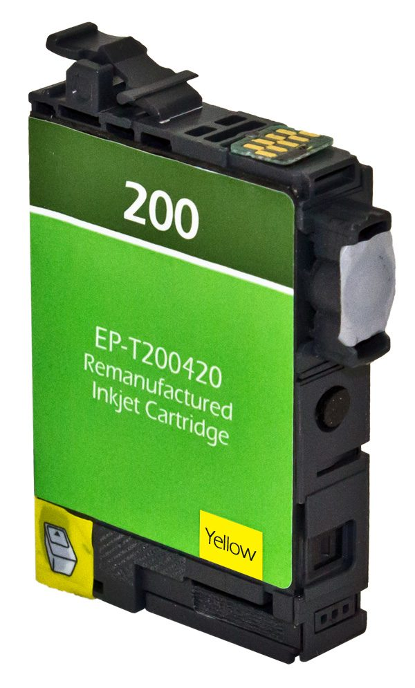 Epson T200 XL High Yield Yellow Remanufactured Printer Ink Cartridge