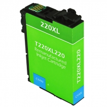 Epson T220 XL High Yield Cyan Remanufactured Printer Ink Cartridge