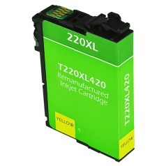 Epson T220 XL High Yield Yellow Remanufactured Printer Ink Cartridge
