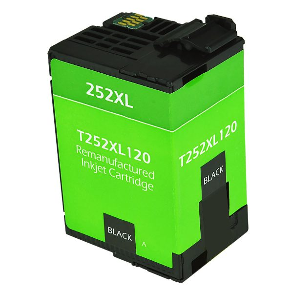 Epson T252 XL High Yield Black Remanufactured Printer Ink Cartridge