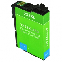 Epson T252 XL High Yield Cyan Remanufactured Printer Ink Cartridge